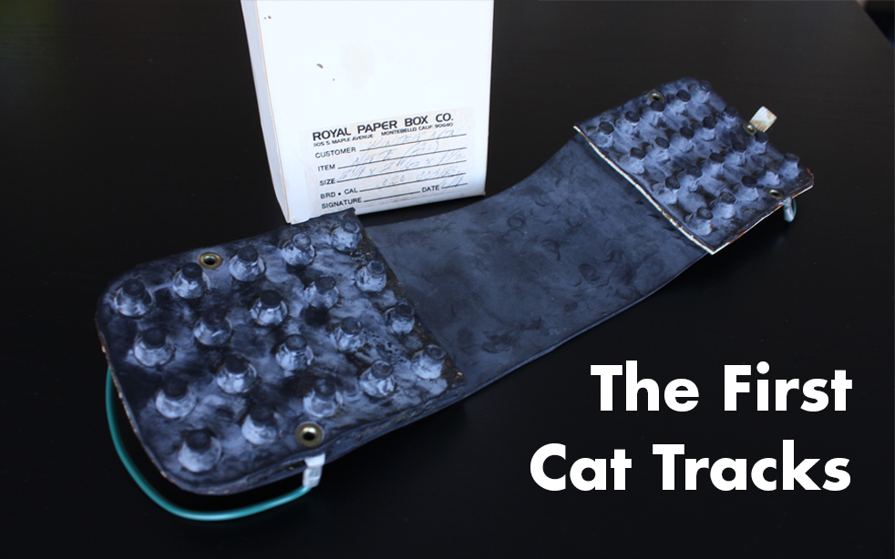 Mike Carey's first prototype of Cat Tracks